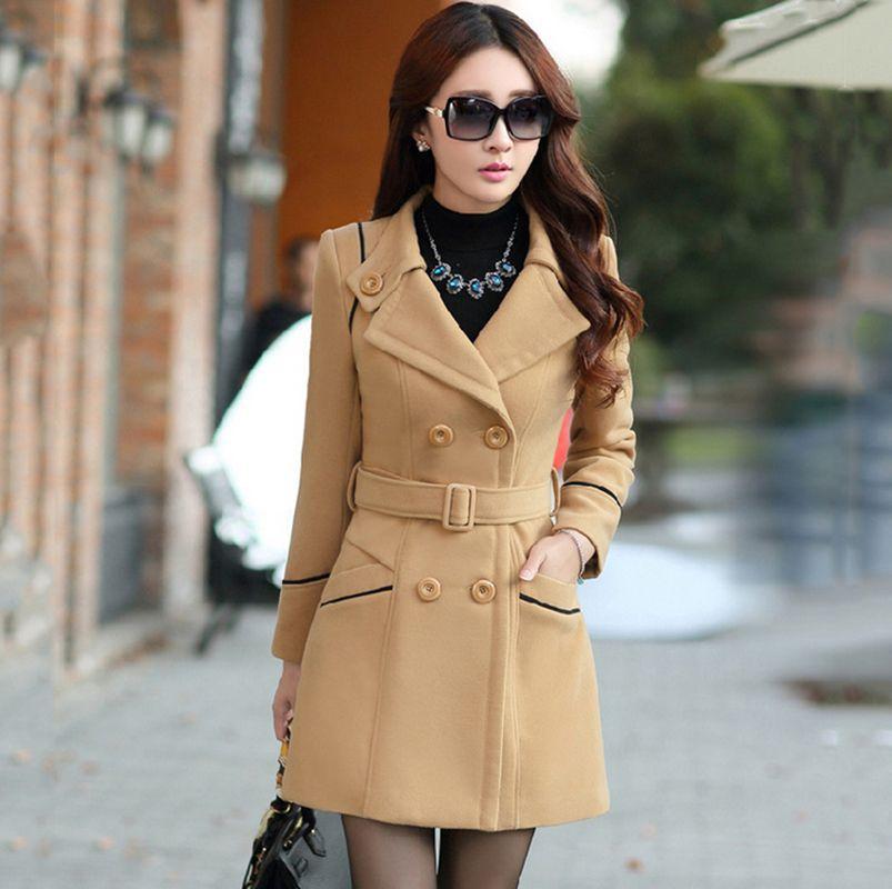 Manteau femme fourre laine