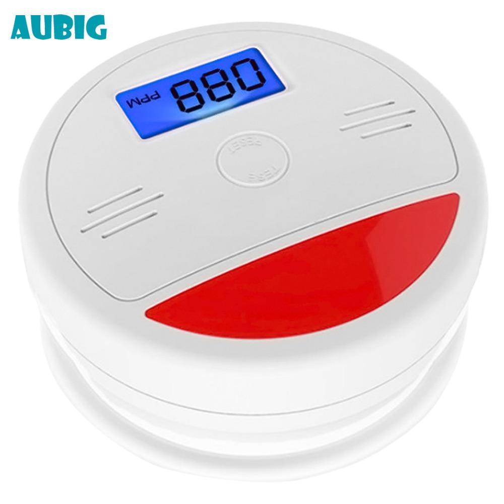 Aubig LCD CO Sensor Carbon Alarm Security Protection Wireless Fire Alarm Sensor Monoxide Poisoning Warning Detector
