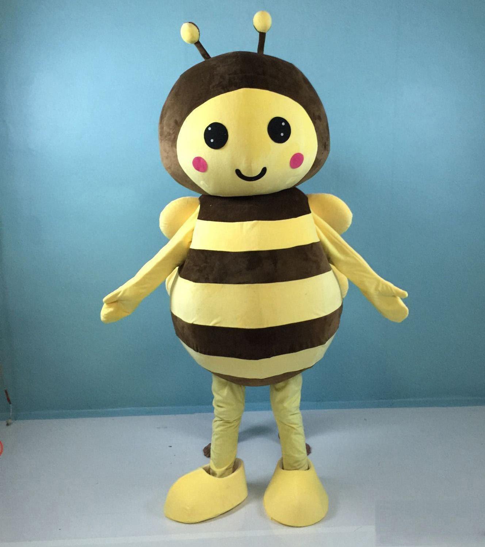 Déguisement de mascotte Abeille géante jaune de haute qualité pour adultes