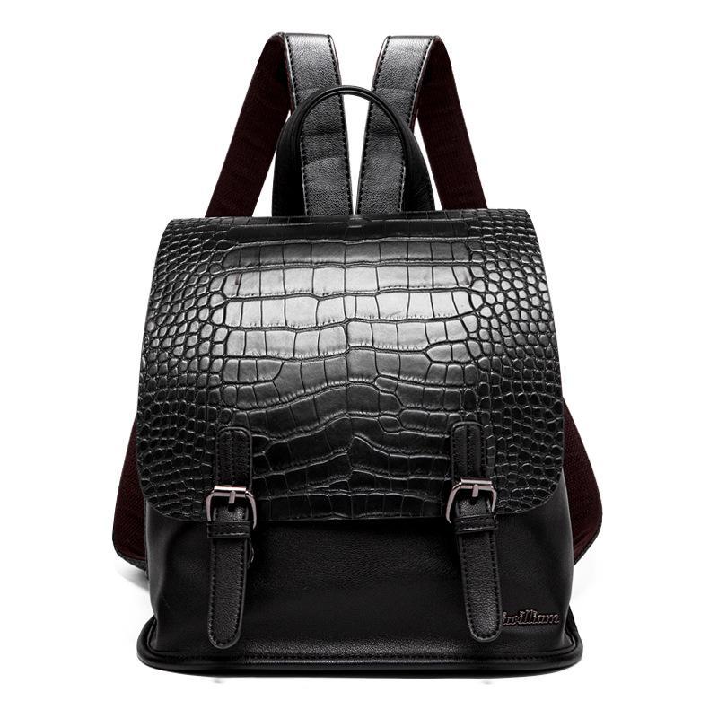 wholesale Women Famous brand designer backpack Luxury pu leather backpacks small Girl School Bag Ladies Handle crocodile pattern backpacks