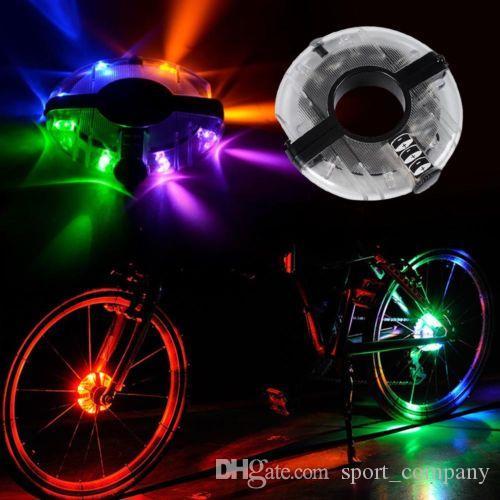 Bike Cycling LED Wheel Spoke Light Bicycle Night Riding Warning Wheel Lamp Waterproof Cycling Hubs Light Bike Front/Tail Light