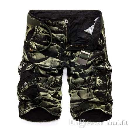 New Arrival Cargo Shorts Men Camouflage Casual Design Military Fashion Shorts Homme Cotton Loose Quality Clothing No Belts