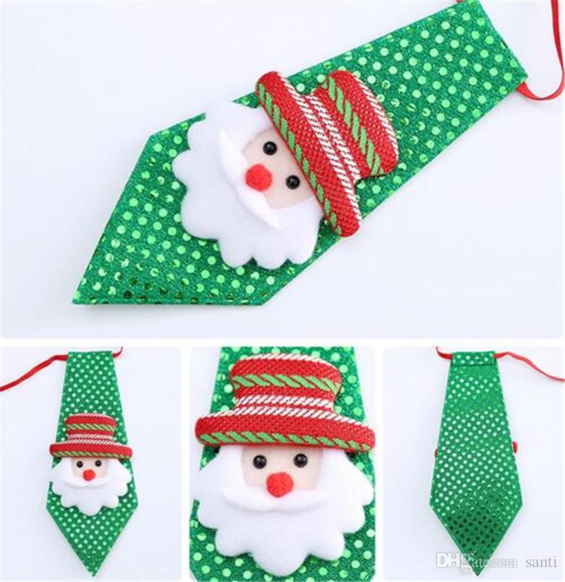 Christmas Tie Party Accessories Creative Christmas Tie Party Dance for Kids Hot