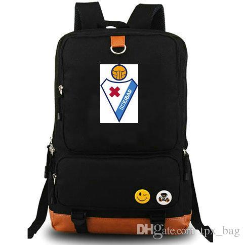 Armeros mochila mochila al aire libre del equipo de fútbol mochila bolsa de la escuela de la lona Eibar mochila club de fútbol S D mochila