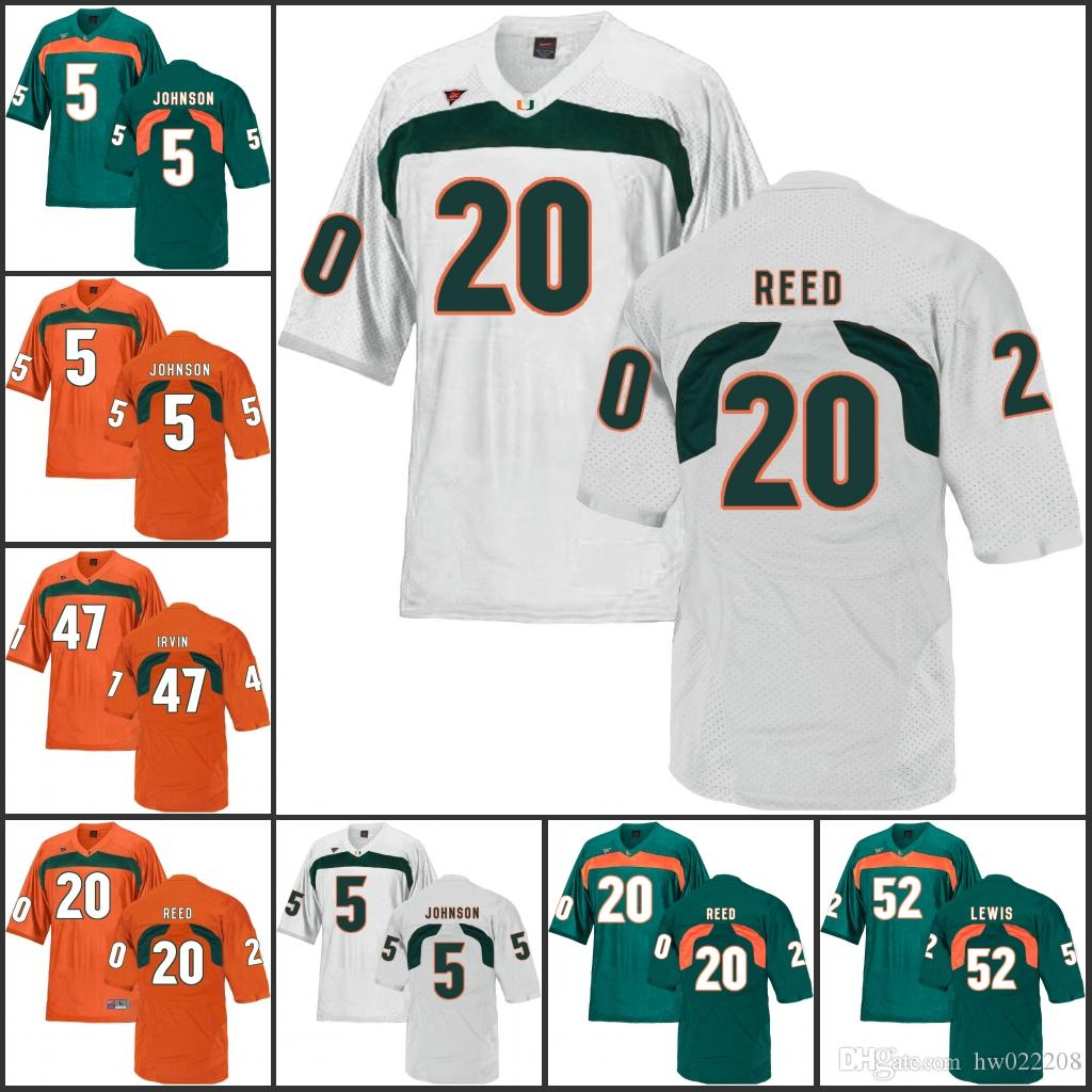 new styles 7c5ef c96fb 2019 2018 NCAA Miami Hurricanes College Football Jerseys Ed Reed Sean  Taylor Michael Irivin Andre Johnson Ray Lewis Allen Hurns Mark Walton Mira  From ...