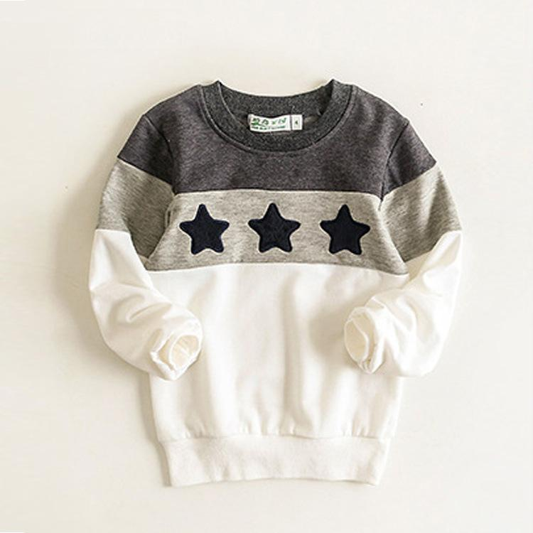 Family Shirt for Father Mother Kids Autumn Warm Pullovers Sweaters Family Matching Outfits Stars Pattern Children 2-10 Years Gray