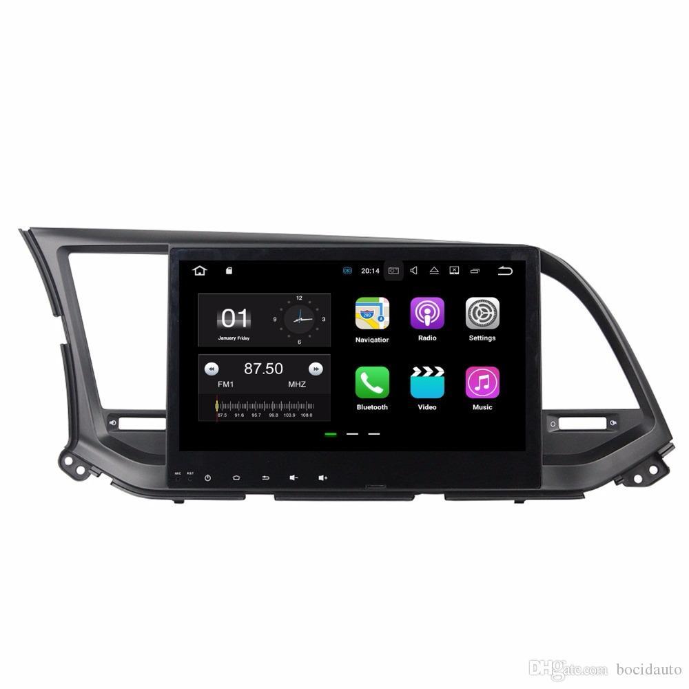 """Android 7.1 Quad Core 10.1"""" автомобильный радиоприемник dvd GPS мультимедиа головное устройство DVD автомобиля для Hyundai Elantra 2016 с Bluetooth WiFi зеркало-ссылка DVR"""