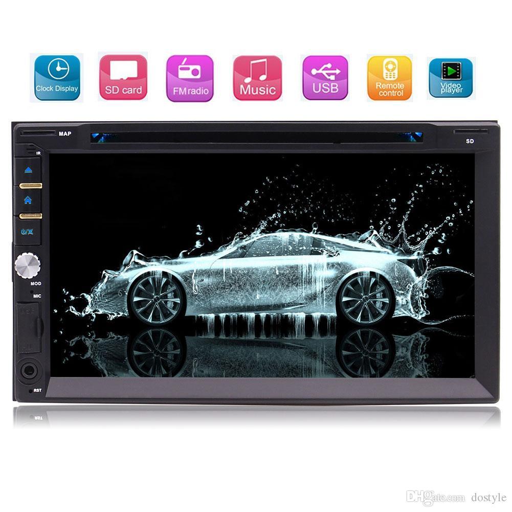 Eincar Multimedia Car Radio Audio Double Din 7'' Touch Screen Bluetooth Car dvd Stereo 3 UI Optional RDS FM/AM 1080P Video Play