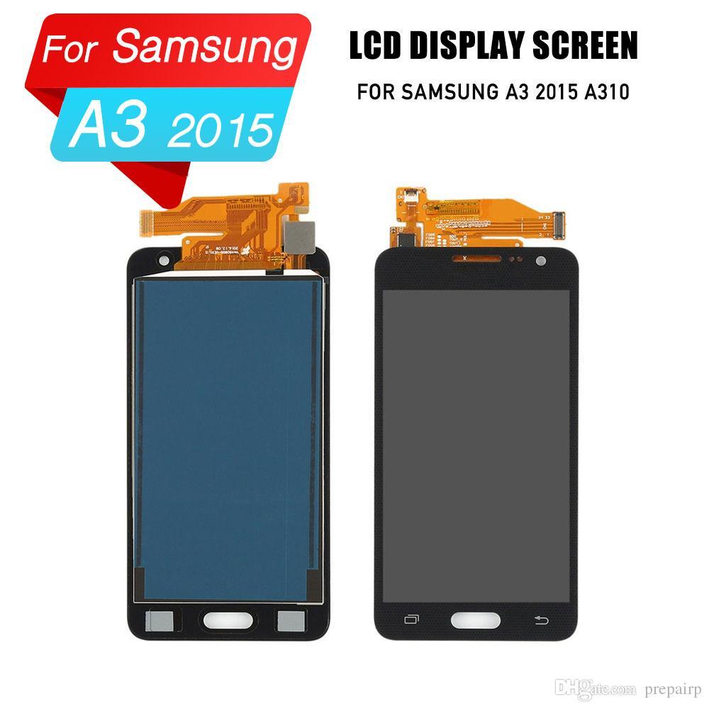 PrepairP samsung A3 2015 A310 A300 için LCD sayısallaştırıcı ekran lcd ekran dokunmatik ekran meclisi için samsung A3 2015 lcd ekran