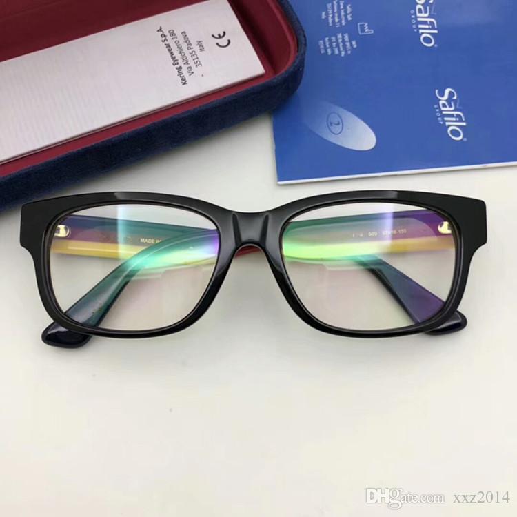 2018 NUOVO GG03430 occhiali tempio striscia di muti-colore piccola cornice rettangolare 57-18-150 occhiali da vista OEM factory outlet