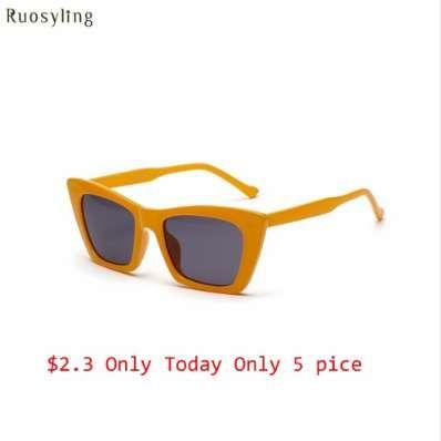 Ruosyling Square Mujeres Gafas de sol Hombres Naranja Marco Lentes Rojas Vintage Gafas de sol oscuras Hombres Naranja Gafas de sol de lujo Señoras tonos