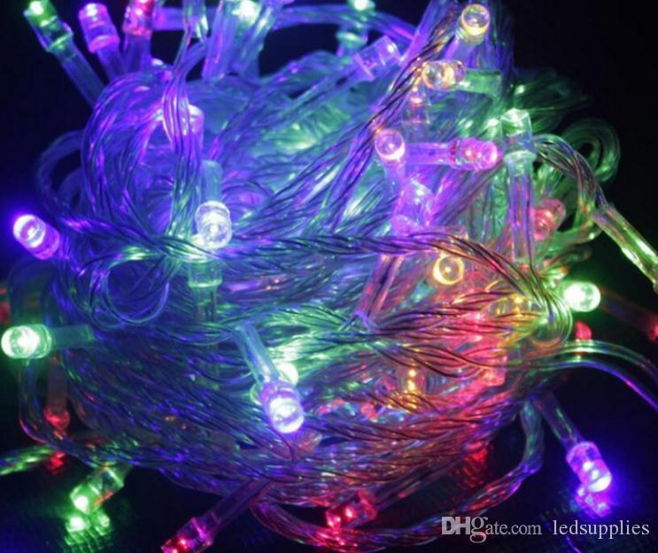 Lámpara de luces de luces de árbol de Navidad con luces intermitentes para árboles de navidad, lámpara de decoración multicolor, 10 metros