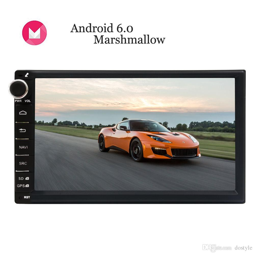 Android 6.0 Marshmallow Double Din Car Stereo 7'' Digital Touch Screen Autoradio Head Unit GPS Navigation Steering Wheel Control no car dvd