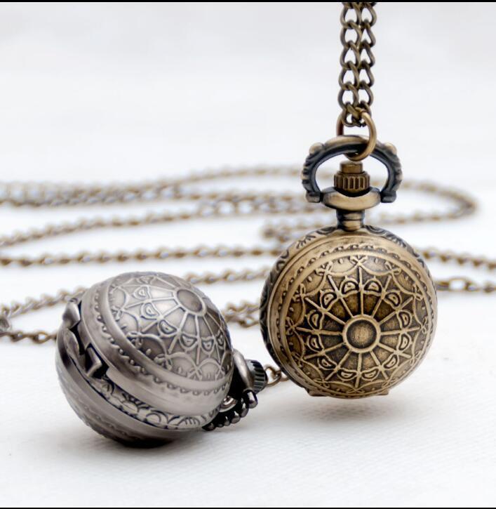 Zegarki kieszonkowe z brązu Balck Naszyjnik