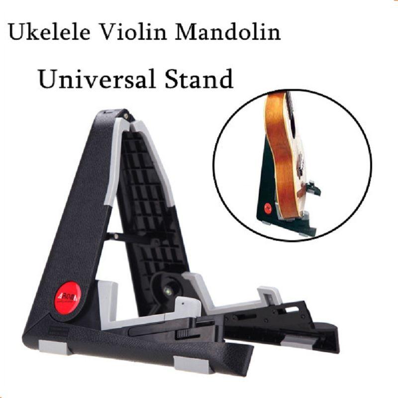 Aroma aus-02 soporte plegable a-frame soporte universal soporte de montaje para ukelele violín mandolina fácil de ahorro de espacio