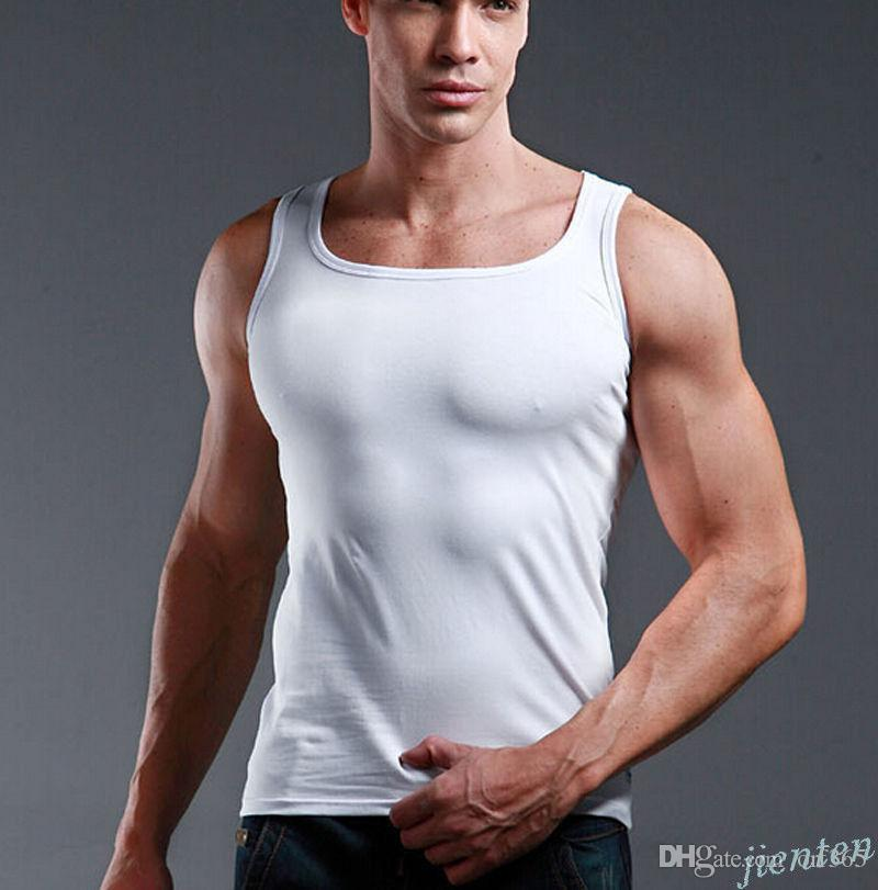 Quality Men/'s 100/% Cotton A-Shirt Wife Beater Ribbed Tank Top Undershirt Vest