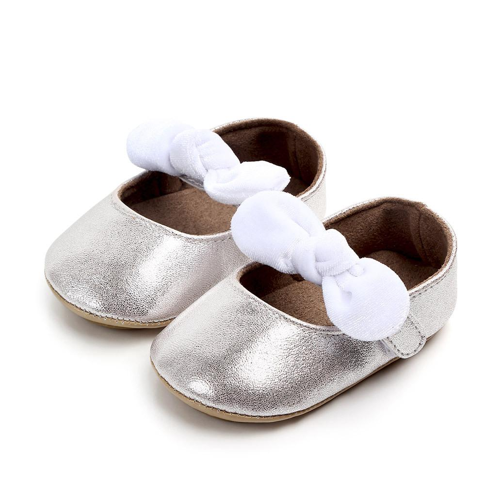 Baby Shoes Newborn Infant Boy Girl First Walker Sofe Sole Princess Bowknot Toddler Baby Crib Shoes Casual