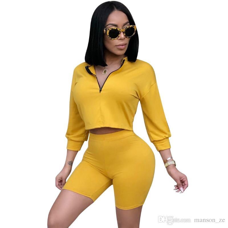 Sexy 2 Piece Set Women Clothes Crop Tops Comfortable Shorts Suits Summer Autumn Outfits Two Piece Matching Sets Casual Tracksuit Hot Sale