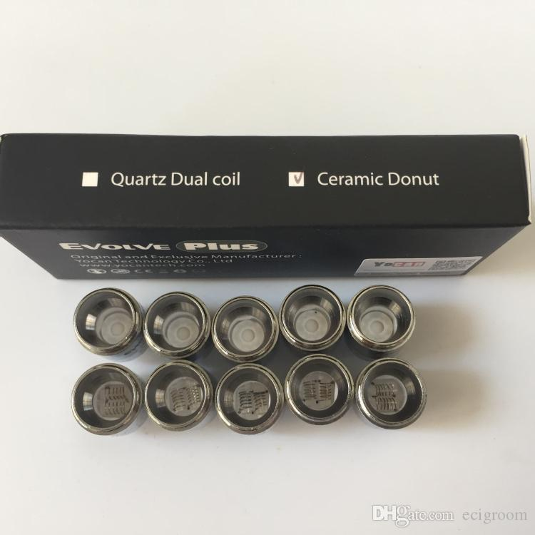 Authentic Yocan evolve plus Replacement Coils For Yocan Evolve Plus Kit QDC Quartz Dual Coils Ceramic Donut Coils for yocan wax atomizer