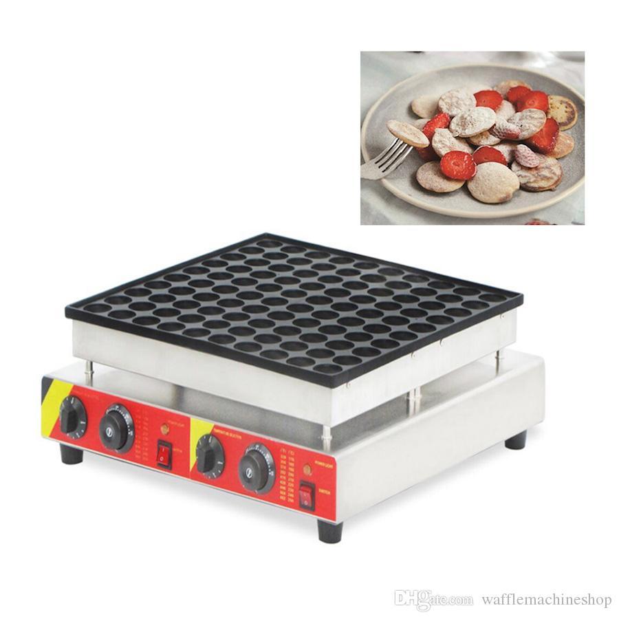 NP-545 Ticari Poffertjes Izgara Electic Mini Gözleme Çelek Kek Pan Poffertjes Maker Mini Waffle Kek Snack Ekipmanları