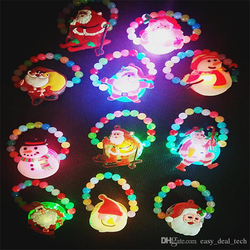 Glowing Bead Wristband Flashing Bangle LED Light-Up Bracelet Kids Toys Gift Glow Party Supplies Christmas New Year H283