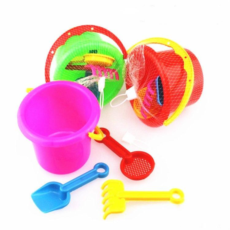 20pcs Sand Water Beach Play Toys Set Kids Children Seaside Bucket Shovel Rake Kit Building Sea Horse Molds Funny Tools