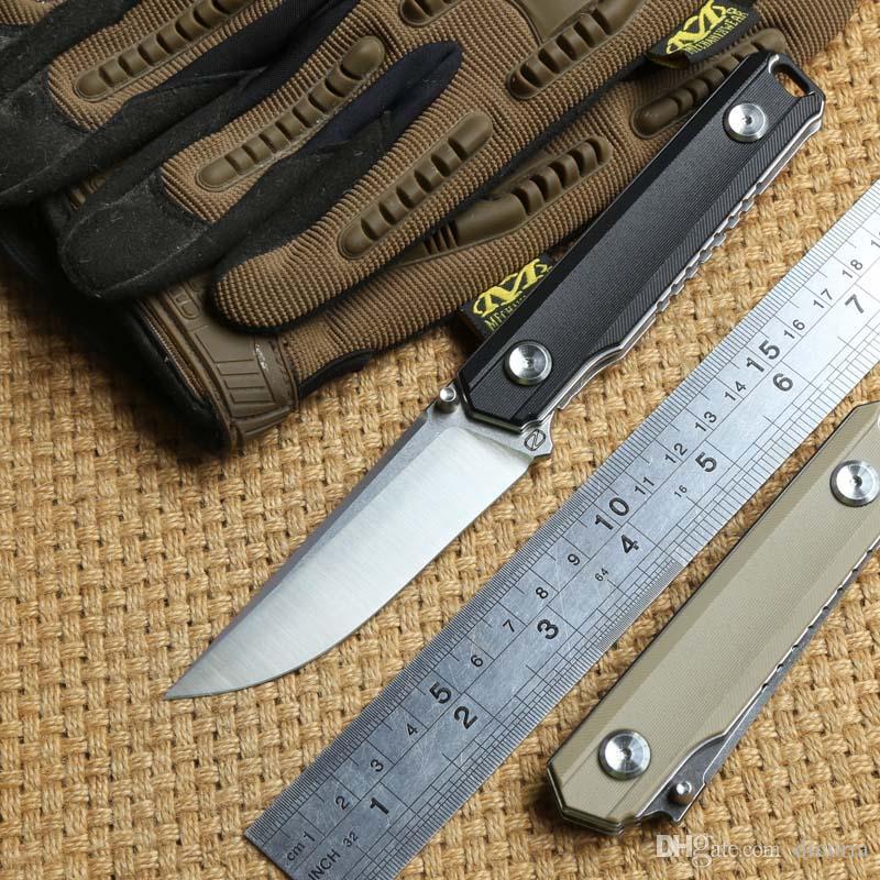 STEDEMON BP02 tactique couteau pliant lame 440C KVT roulement à billes chasse G10 poignée de camping en plein air Couteaux de survie EDC Outil