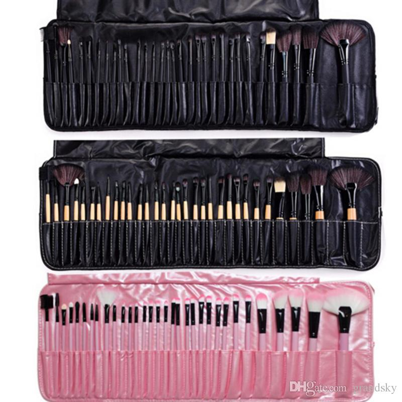 Profesyonel Makyaj Fırçalar Set 32 adet Taşınabilir Tam Kozmetik makyaj Fırçalar Aracı Vakıf Göz Farı Dudak fırçası ile Çanta