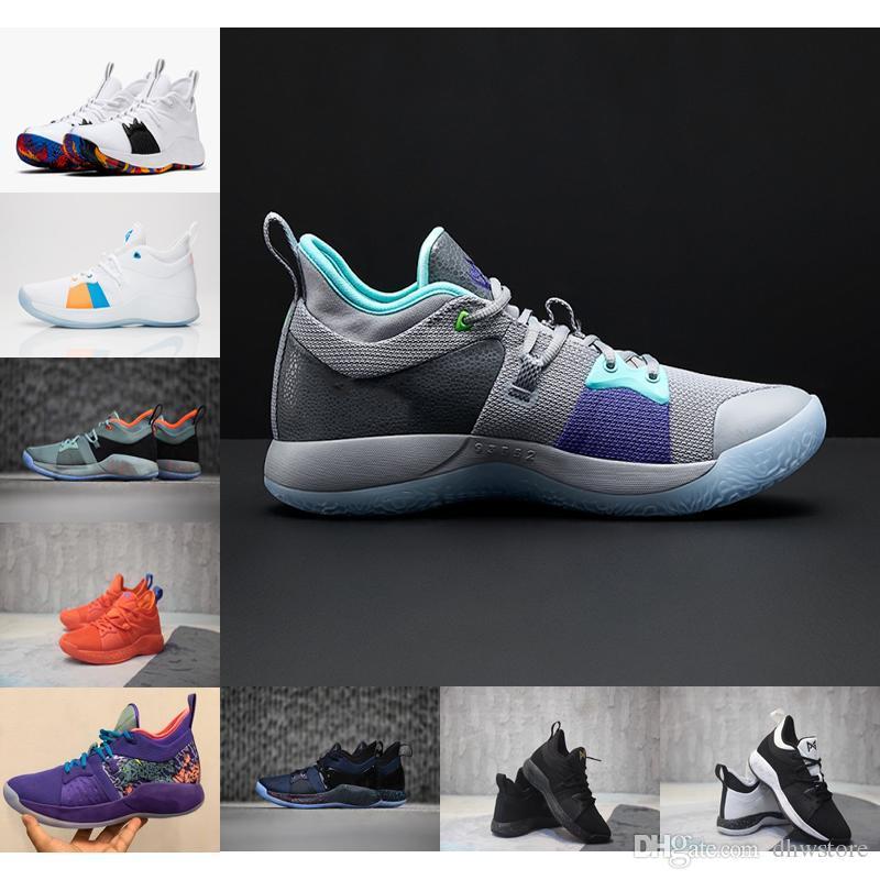 Designer Casual Shoes Paul George 2 Hommes Sport Sneaker L'appât II Mamba Mentality loup gris PG 2 Chaussures de sport avec la boîte de chaussures