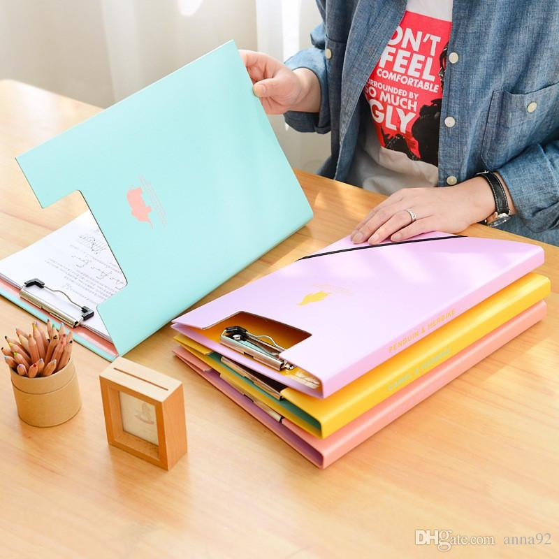 Creative A4 Cute Clipboards Lovely Stationery Store Clip Folder Board Desk File Drawing Writing Pad School Office Accessory Tool free ship