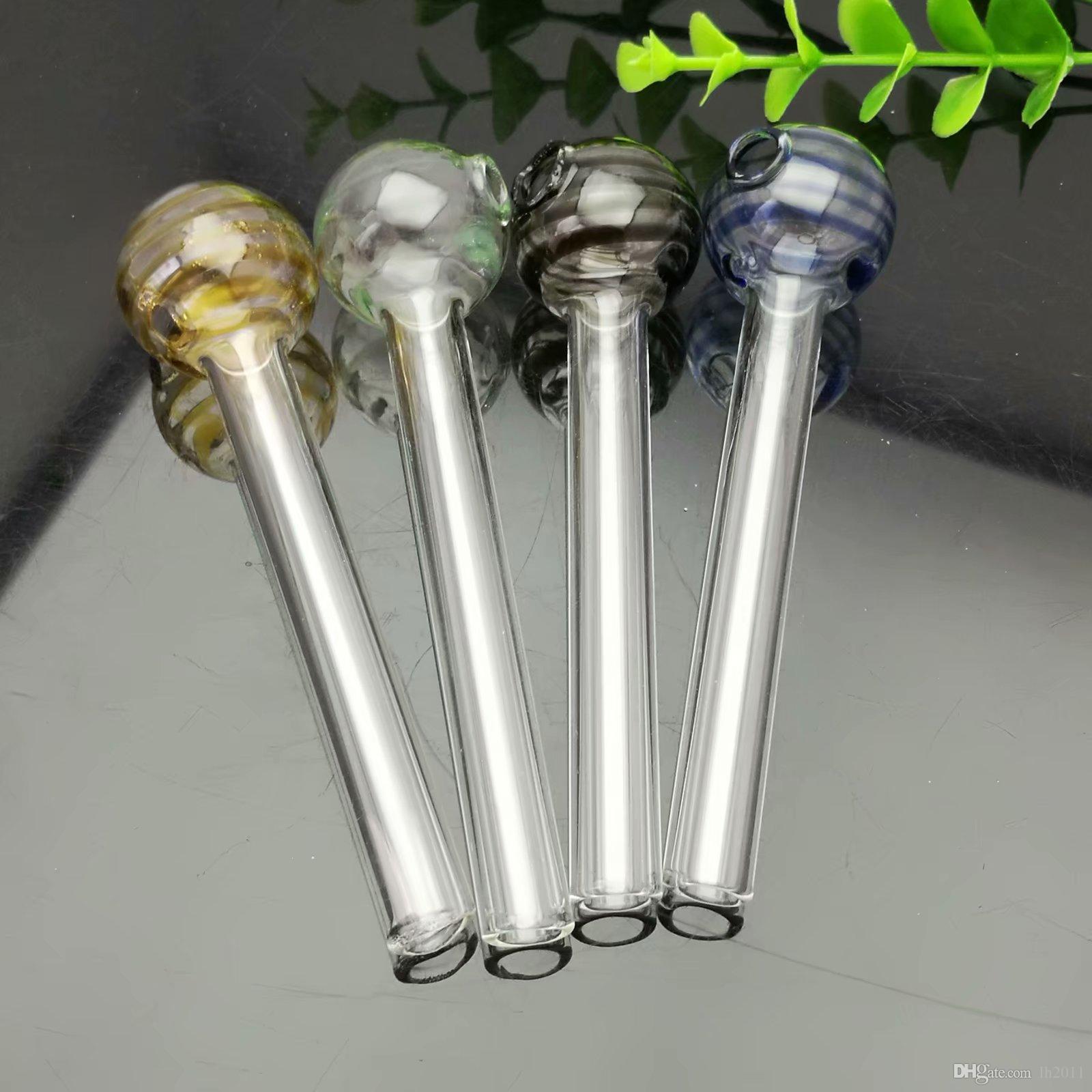 Piruletas de colores Ollas rectas de vidrio Bong de vidrio Pipa de agua Bongs Pipas Fumadores Accesorios Cuencos
