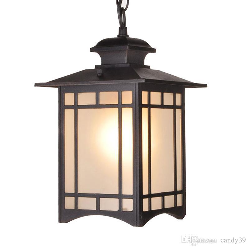 Retro Outdoor Pendant Lamp Balcony Corridor Suspension Light Waterproof Pendant Light Villa Gazebo Grape Rack Park PA0148