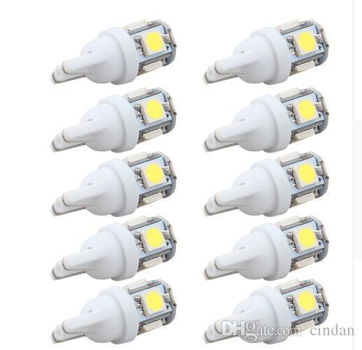 10pcs LED 자동차 DC 12V Lampada 빛 T10 5050 슈퍼 화이트 194 168 W5W T10 주차 전구 자동 웨지 클리어런스 램프