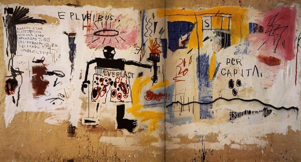 """Jean-Michel Basquiat """"Per Capita"""" di Alta Qualità Dipinto A Mano HD Stampa Graffiti Pittura A Olio Home Decor Wall Art Su Tela Multi Taglie g64"""
