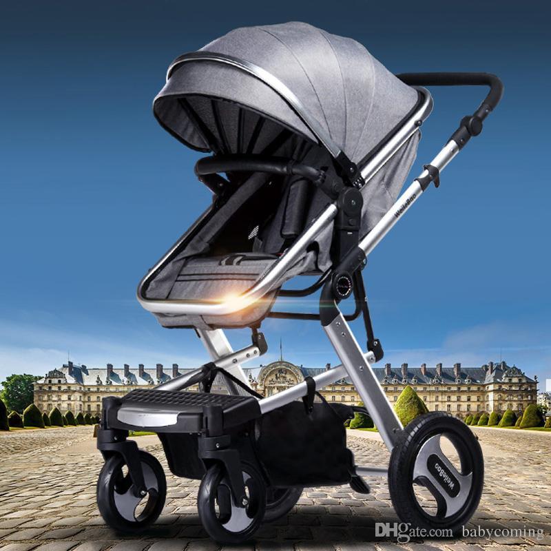 Cochecito de bebé / cochecito de bebé libres del envío, alto coche del bebé del paisaje de 63CM, cochecito plegable portátil de los niños, carretilla de los niños