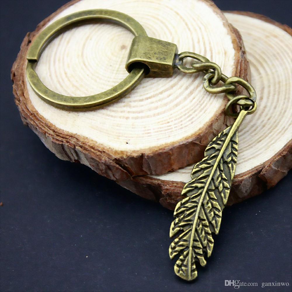 6 Pièces Porte-clés femmes Porte-clés Porte-clés mode pour les hommes Feuille 44x11mm