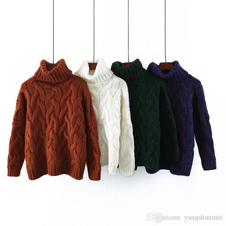 Women/'s Casual Twist Warm Sweaters Knitwear Winter Pullovers Turtleneck Sweaters