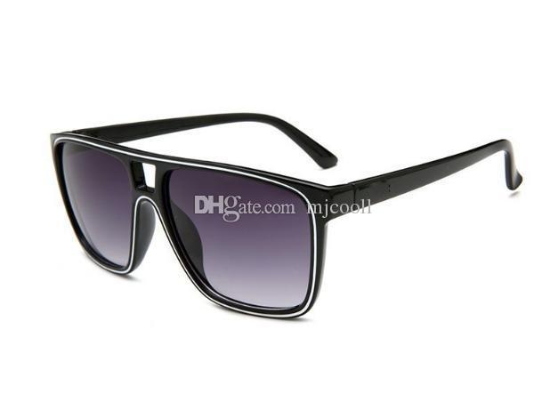 Buona qualità Nuovi uomini e donne attraverso gli occhiali da sole in coccodrillo 2384 occhiali da sole alla moda
