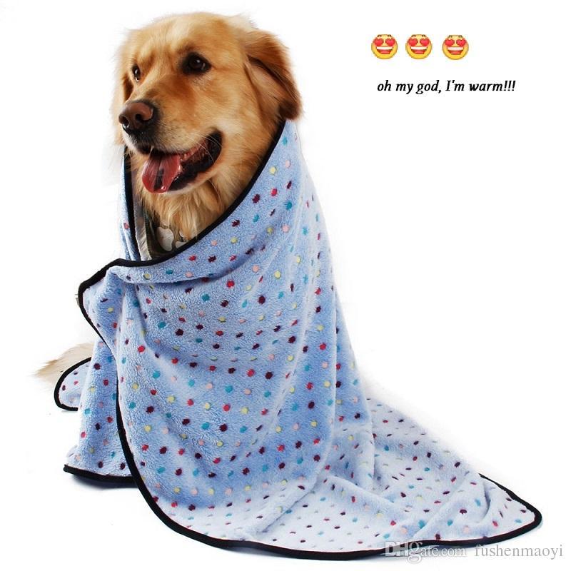 강아지 강아지 담요 애완 동물 쿠션 작은 개 고양이 침대 소프트 따뜻한 수면 매트 키티 부드러운 담요 강아지 따뜻한 매트 포인트 인쇄