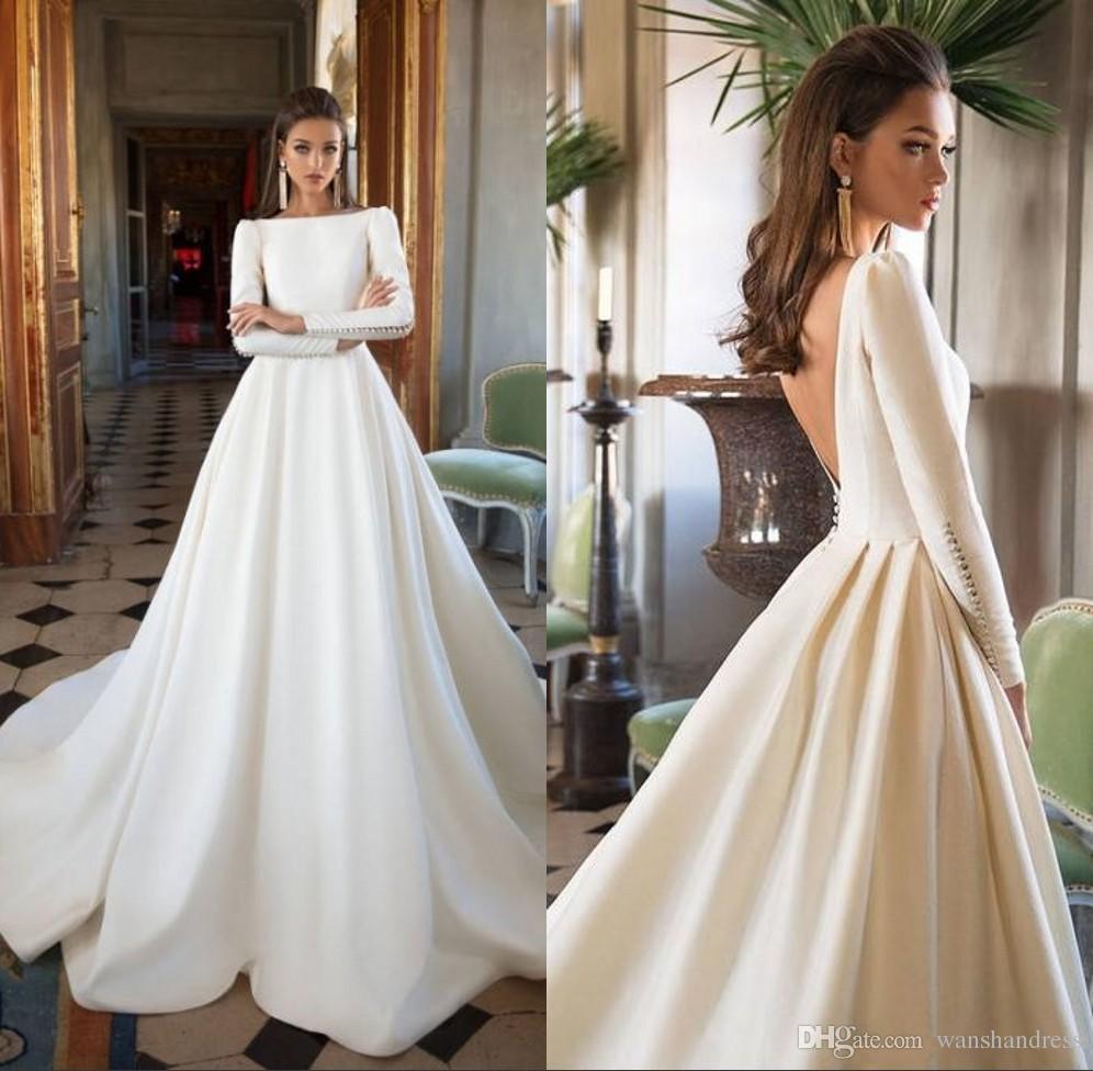 Acheter Robes De Mariée Simple A Ligne De