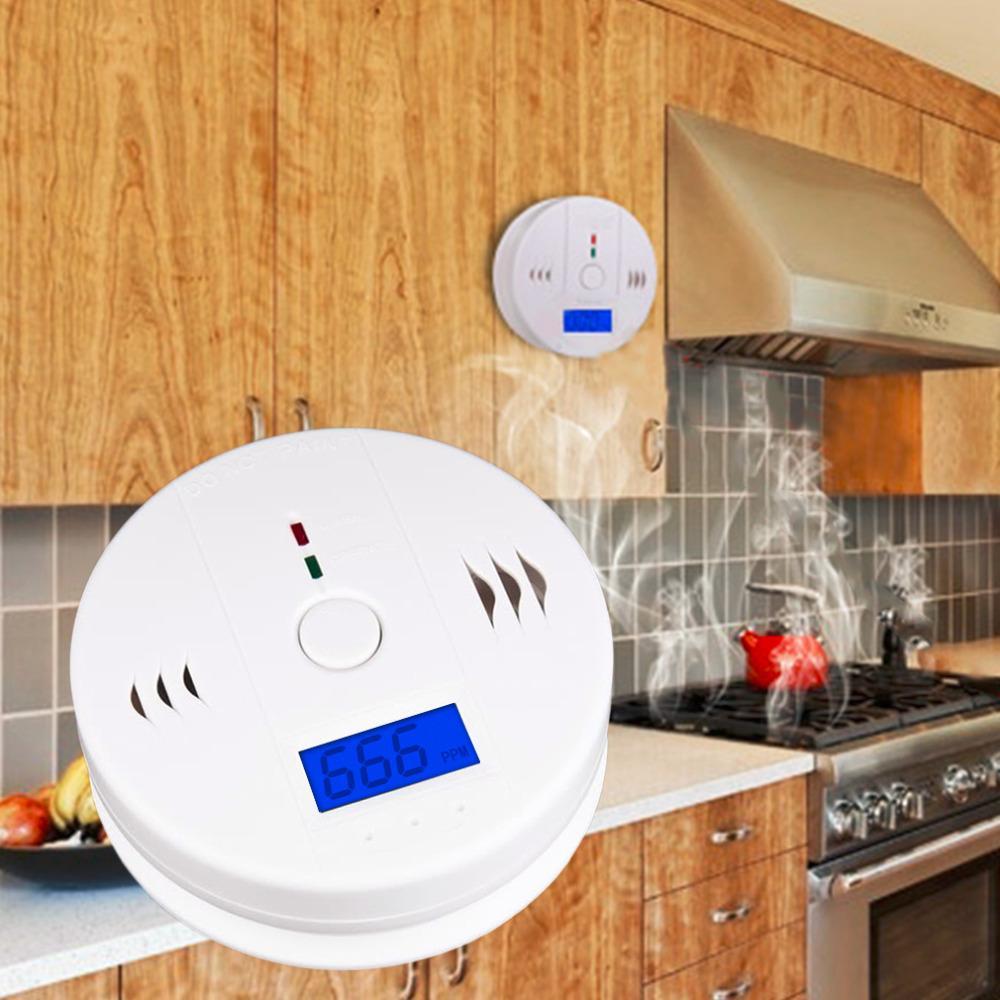 Freeshipping 85DB Digital LCD Backlight CO Carbon Monoxide Alarm Detector Tester CO Gas Sensor Alarm 85dB For Home Security