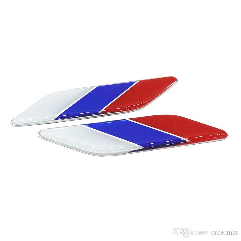 Стайлинга автомобилей мода 1 пара 3D алюминиевый флаг России крыло эмблема значок автомобиля 3 м наклейки для Fiat Alfa Romeo VW Audi аксессуары