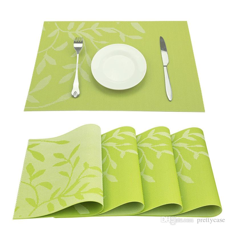 6pcs Red Placemats Heat Insulation Stain Resistant Placemat for Dining Table