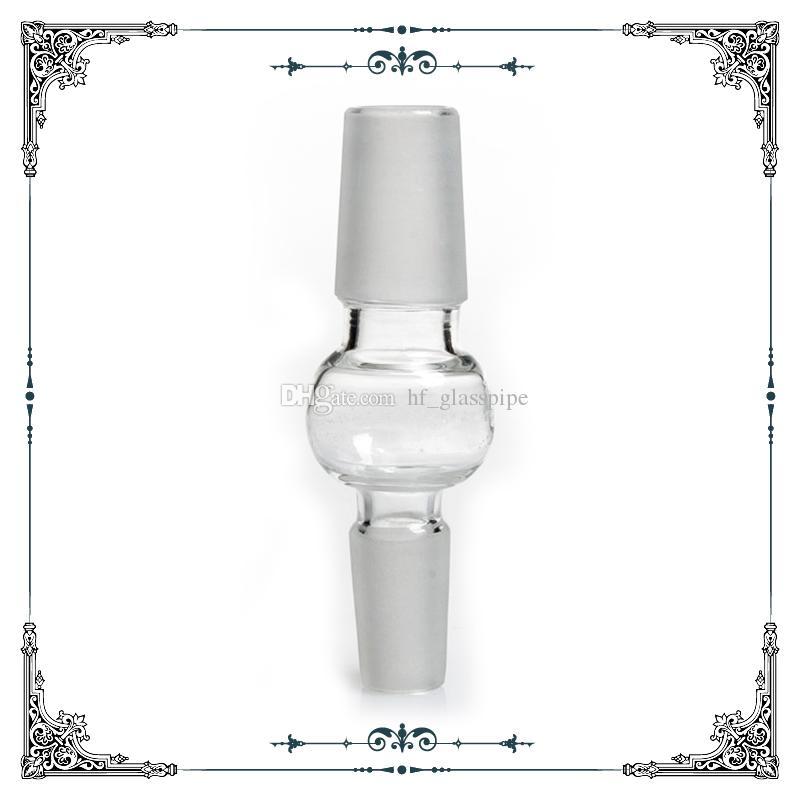 14mm 18 mm Adaptador de vidrio de doble masculino adaptador de tamaño mezclado Adaptador desplegable para acoplados de agua de vidrio Accesorios para fumar Envío gratis