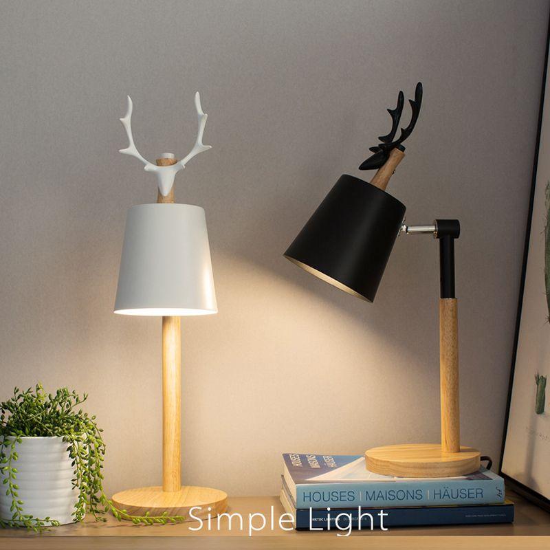 Lavoro di ufficio minimalista europeo ha condotto le lampade da tavolo Sala studio Vista protettiva Lampada da lettura Lampada da comodino Camera da letto Lampade da tavolo biblioteca