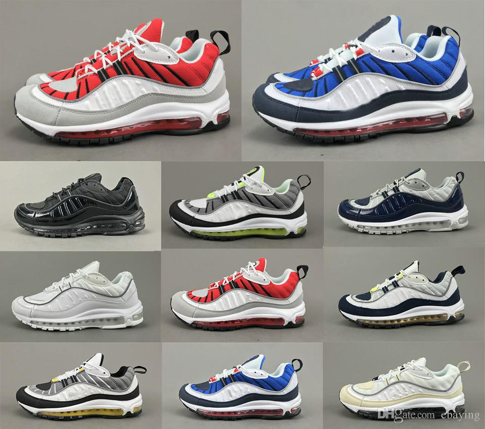 Maxes 2018 Shoes 98 Gundam Tour Yellow South Beach Running Shoes Sneakers Men 20th Anniversary Best Quality Running Shoes With Box Sports Shoes Online