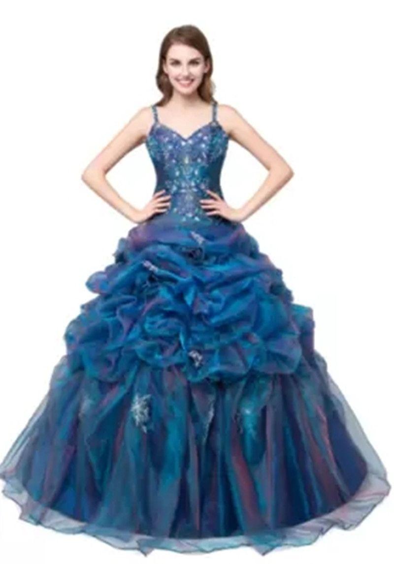 В наличии 2018 сексуальные аппликации V-образным вырезом бальное платье Quinceanera платье из органзы на шнуровке Sweet 16 платье Vestido платья Debutante BQ137
