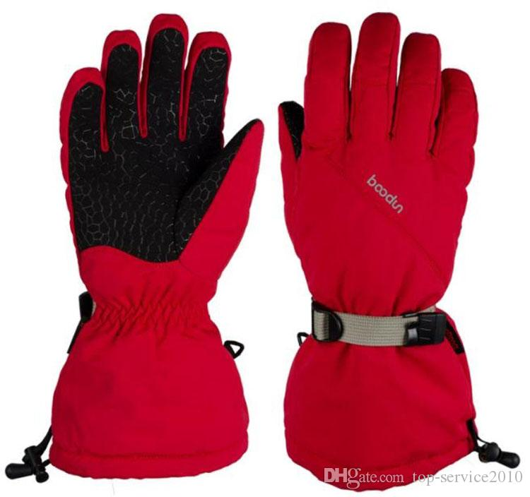 New arrive long cuffs refer to silicone non-slip waterproof windproof ski gloves Sport gloves Epacket free post