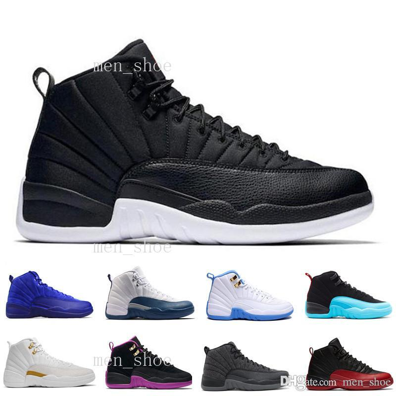 [Mit Box] Hohe Qualität 12 Wolle Männer Basketball Schuhe 12 s Wolle Grau Schwarz Mann Und Frauen 12 s Sport Turnschuhe frauen laufschuhe für männer