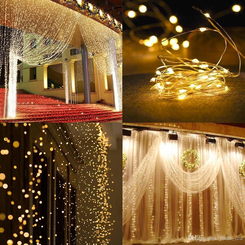 3Mx3M Icicle Cortina LED String Luz Fada 300Leds Guirlanda de Natal Festa de Casamento Pátio Janela Cordas Ao Ar Livre Luzes Decoração
